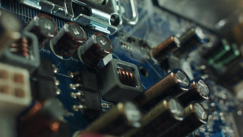 Multiphase power system modern processor with heatsink and the CPU socket Live Action