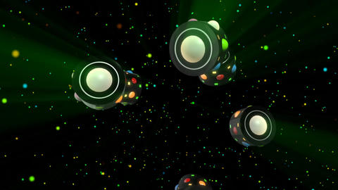 3D Club Retro Party Lights, Stock Animation