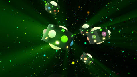 3D Club Retro Party Lights Stock Video Footage