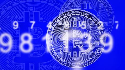 Bitcoin currency animation CG動画素材