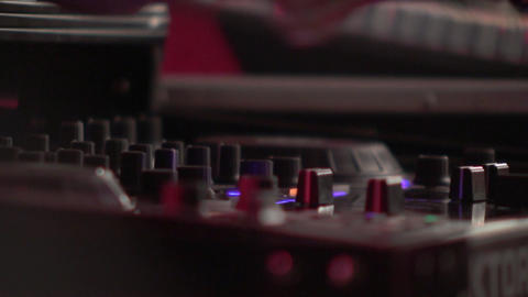 Dj mixes at the mixer at a music contest 83 Live Action