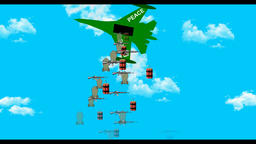 Cartoon fighters project bombs,Peace Animation