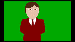 The flat commentator green screen background Animation