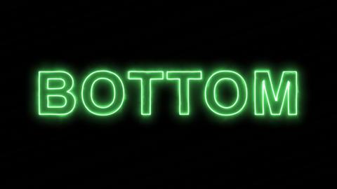 Neon flickering green text BOTTOM in the haze. Alpha channel Premultiplied - Animation