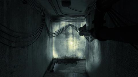 Seeking A Way Out Of Dark Cellar. Alpha Matte 画像
