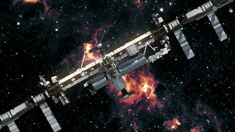 Space Station Outer Space Animación