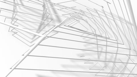Abstract Animated Background From White Wire. Seamless Looping Image