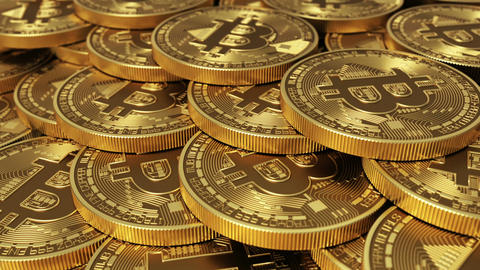 Virtual Coins Bitcoins. Seamless Looping GIF