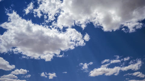 White Clouds In The Blue Sky. Timelapse. (Without Birds). 4K ビデオ