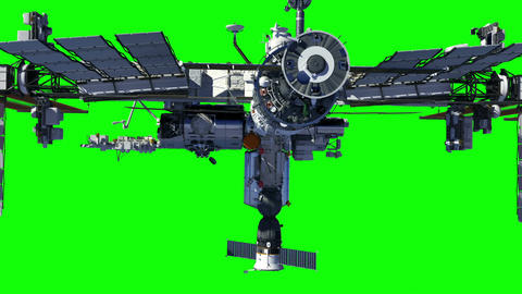 International Space Station. Green Screen GIF