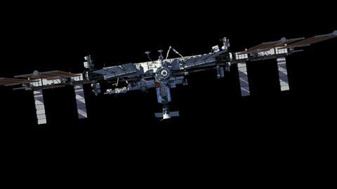 [alt video] International Space Station With Alpha Matte