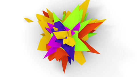 Orange Flower Abstract4K. Abstract Digital Flower.... Stock Video Footage
