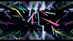 Color paper debris landing animation background CG動画素材
