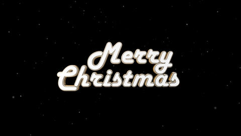 Beautiful retro inscription Merry Christmas with alpha channel Animation