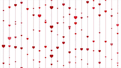 Red hearts abstract St Valentines Day video animation Image