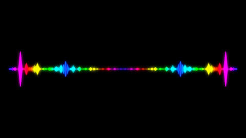Abstract audio visualizer equalizer. Digital illustration backdrop Footage