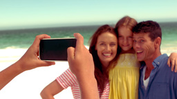 Happy family taking pictures Footage
