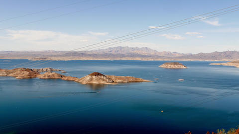 Lake Mead, panoramic wide angle shot Footage