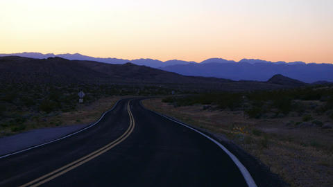 Empty road to Grand Canyon in the Arizona desert Live Action