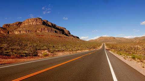 Long and empty road in south-west USA, Nevada Footage