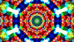 Colorful kaleidoskope patterns, pure geometry abstract background Footage
