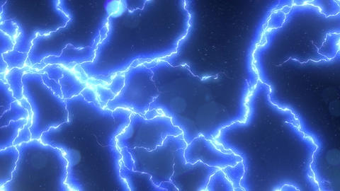 Electric Lighting Energy Animation. Seamless loop Animation