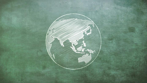 Rotating globe CG動画素材