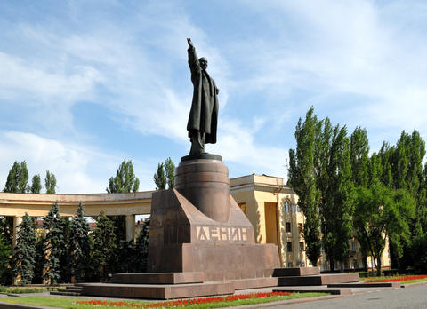 Russia. Volgograd. A monument to Lenin Foto