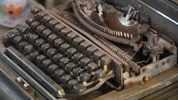 Old typewriter in the store Footage