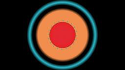 3 circle Venetian transition CG動画素材