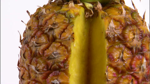 Closeup of sliced pineapple Footage