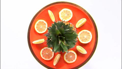 Orange plate fruit platter Live Action