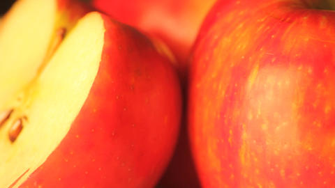 Rotating apple half close-up Live Action