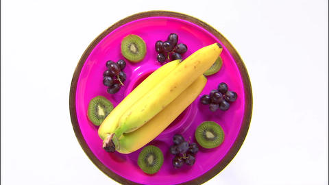 Purple plate fruit platter Live Action