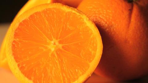 Rotating oranges close up Footage