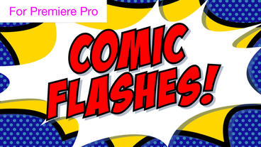 Comic Book Flash Transitions Motion Graphics Template
