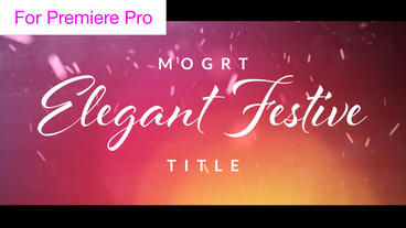 Elegant Festive Snow Titles Motion Graphics Template