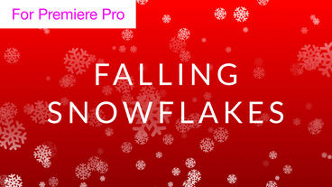 Falling Snowflake Background Loop Motion Graphics Template