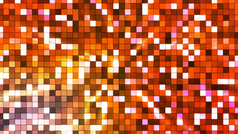 Broadcast Twinkling Hi-Tech Squares, Orange, Abstract, Loopable, 4K Animation