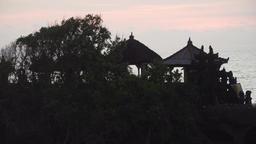 Hindu temple on the island Tanah Lot Bali,Indonesia Footage
