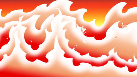 Fire wave CG動画素材