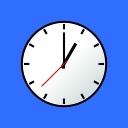 Clock icon, Vector illustration, flat design EPS10 ベクター