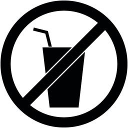 No drink sign. Vector illustration. Flat design ベクター