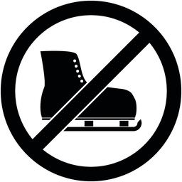 No ice skate, ice-skate prohibited symbol. Vector ベクター