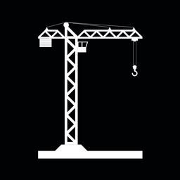 Building Tower crane icon - vector ベクター