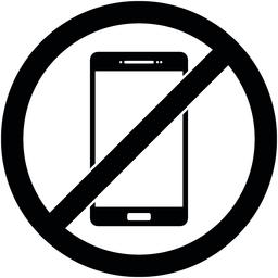 No phone, telephone prohibited symbol. Vector ベクター