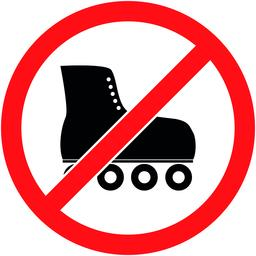 No skate, rollerskate prohibited symbol. Vector ベクター