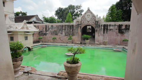 tamam sari castle, jogjakarta, indonesia Stock Video Footage