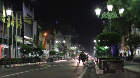JOGJAKARTA - MAY 2012: ordinary night in indonesia Stock Video Footage