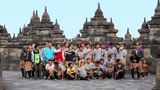 BOROBUDUR - MAY 2012: indonesian students visiting borobudur, indonesia Footage